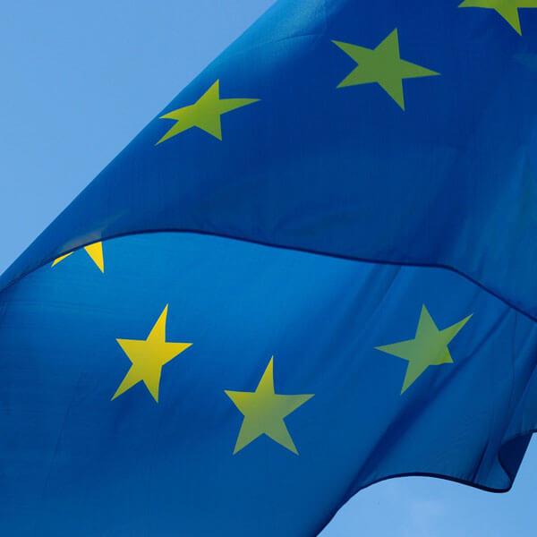 Europäische Flagge Weiterbildung